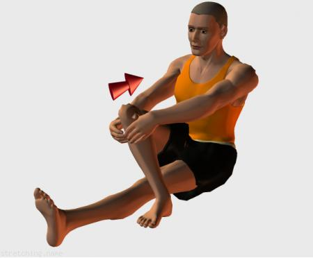 Stretching routine recommended for  athletics,  trekking,  jogging,  rugby,  american football,  legs.