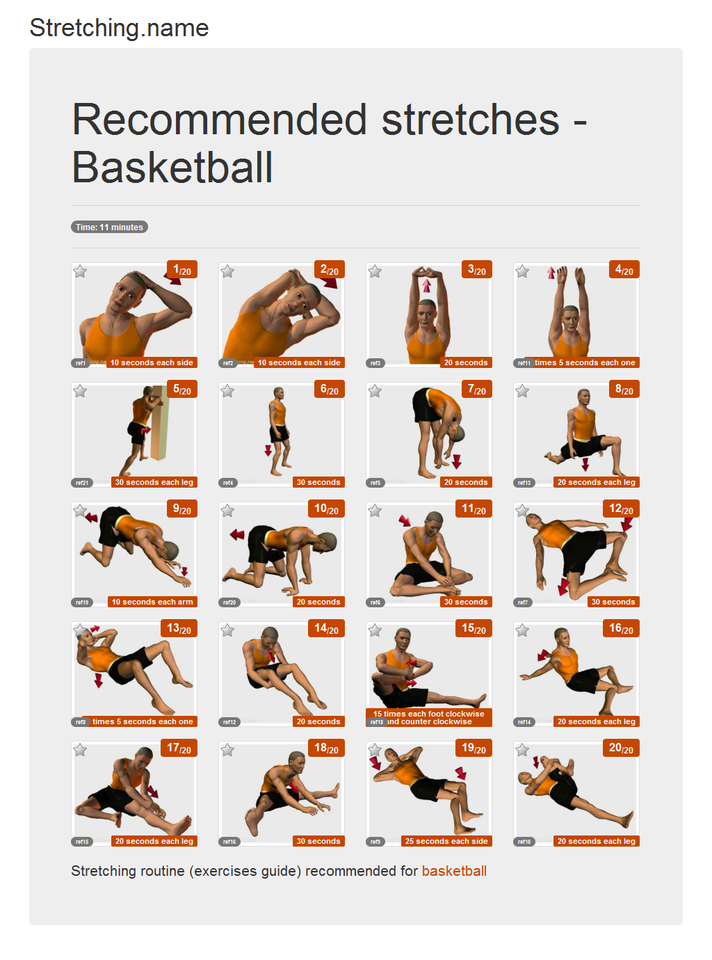 Download stretching posters: Basketball