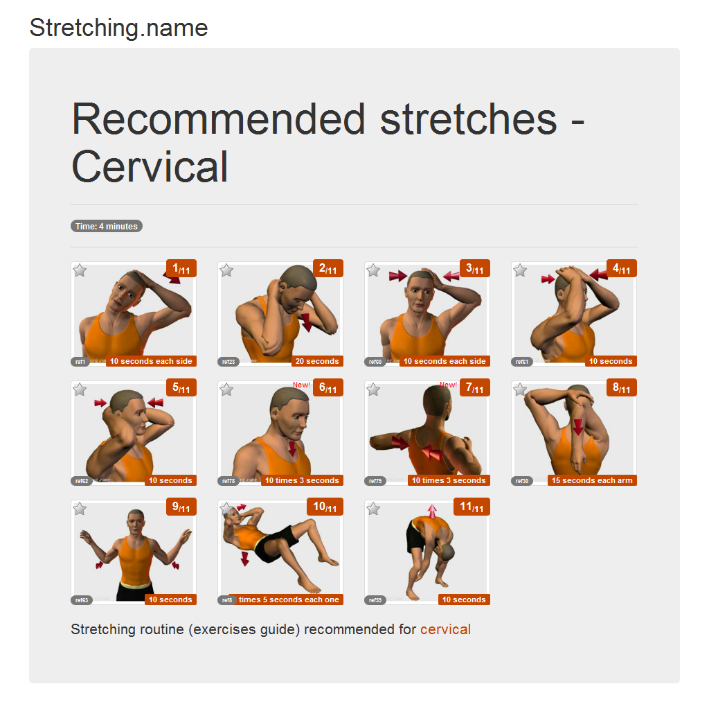 Download stretching posters: Cervical