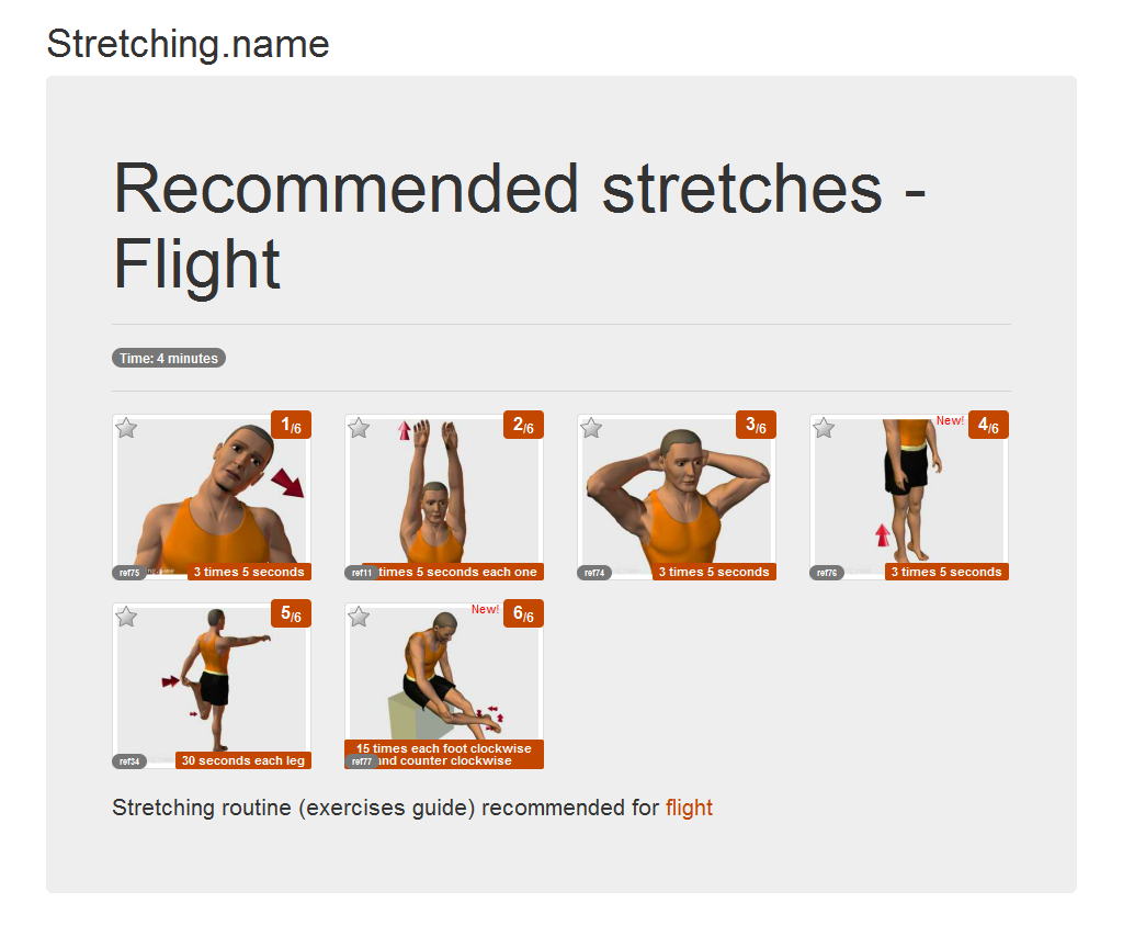 Download stretching posters: Flight