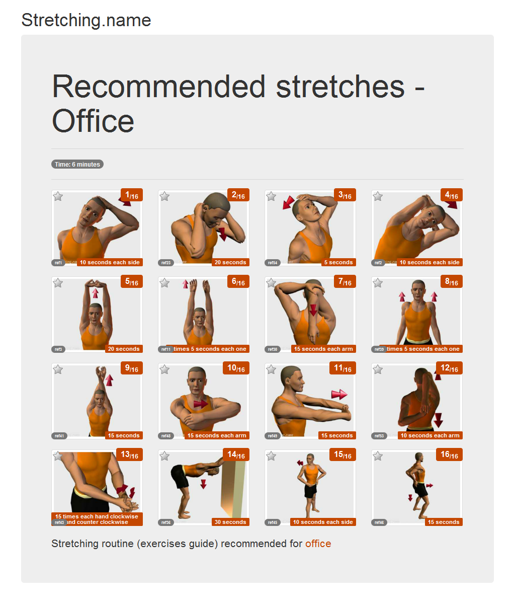 Download stretching posters: Office