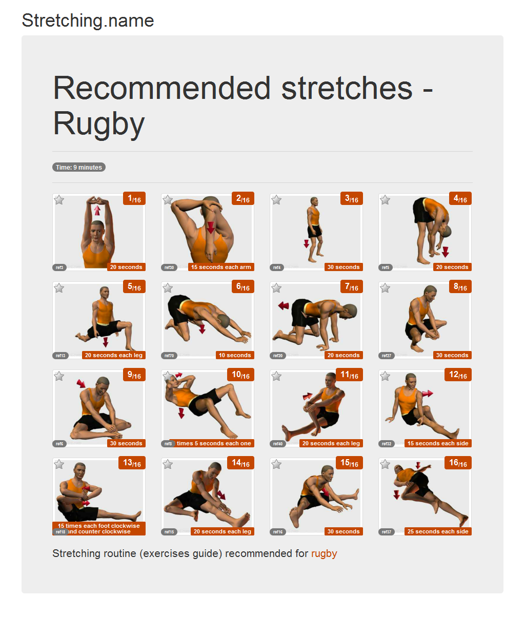 Download stretching posters: Rugby