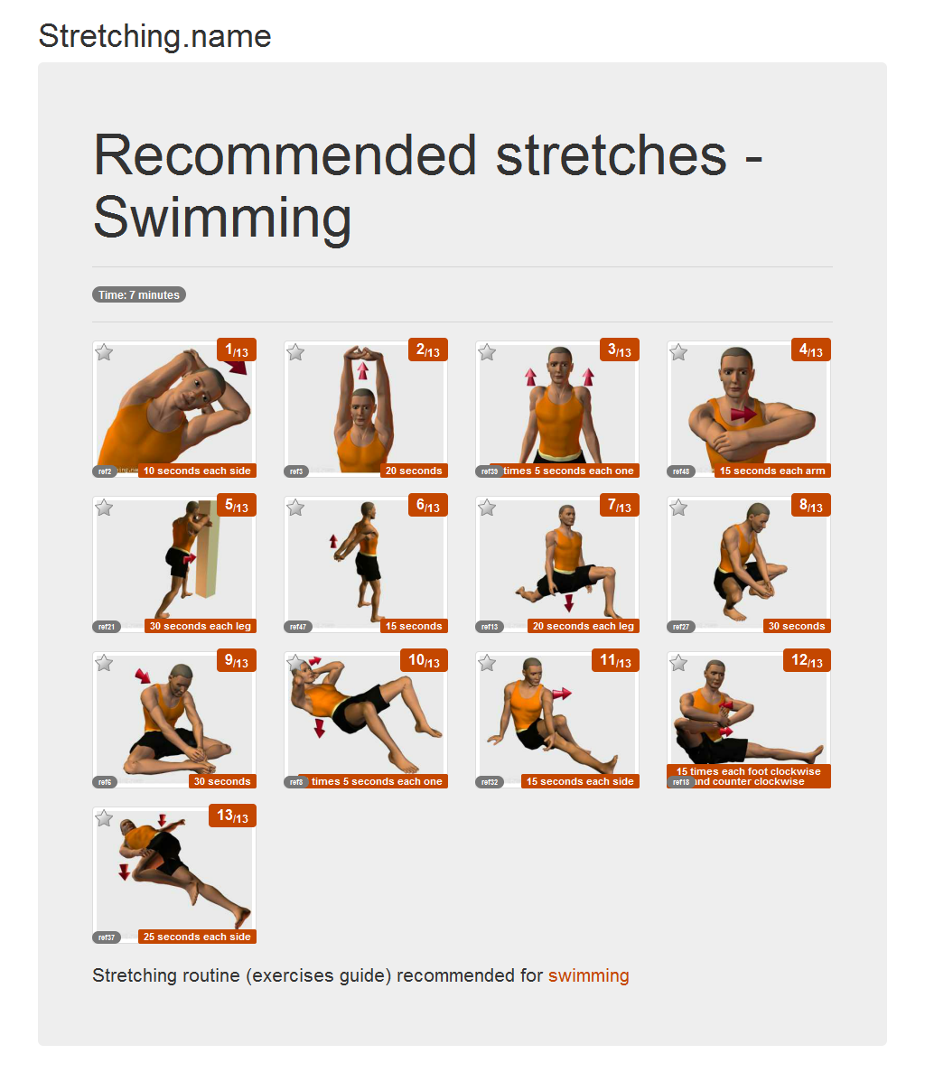 Download stretching posters: Swimming