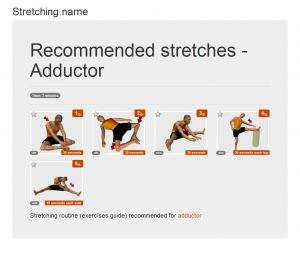 Stretching posters: Adductor