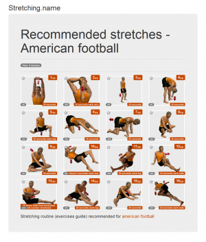 Stretching posters: American football