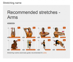 Stretching posters: Arms