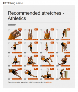 Stretching posters: Athletics