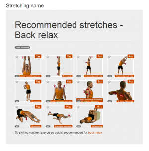 Stretching posters: Back relax