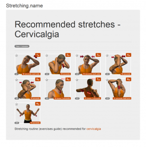 Stretching posters: Cervicalgia