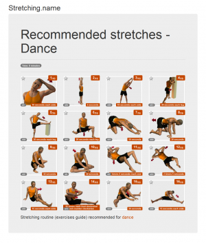 Stretching posters: Dance