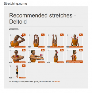 Stretching posters: Deltoid