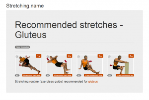 Stretching posters: Gluteus