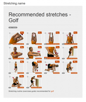 Stretching posters: Golf