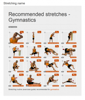 Stretching posters: Gymnastics