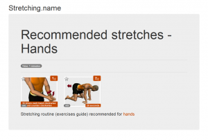 Stretching posters: Hands