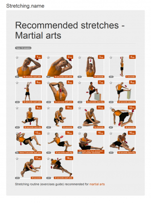 Stretching posters: Martial arts