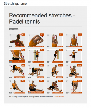 Stretching posters: Padel tennis