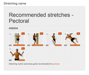 Stretching posters: Pectoral