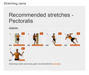 Stretching posters: Pectoralis