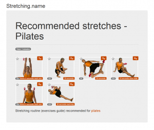 Stretching posters: Pilates