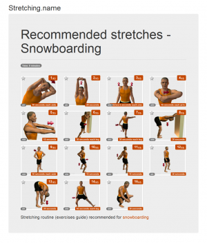 Stretching posters: Snowboarding