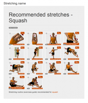 Stretching posters: Squash