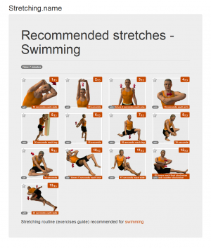 Stretching posters: Swimming