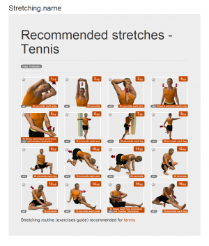 Stretching posters: Tennis