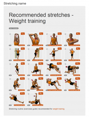Stretching posters: Weight training