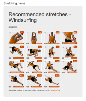 Stretching posters: Windsurfing