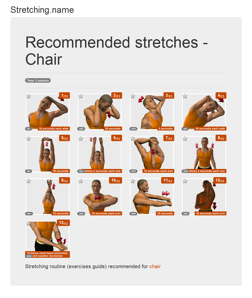Download stretching posters Chair  sc 1 st  Stretching.name & Stretching.name - Stretching posters - Chair