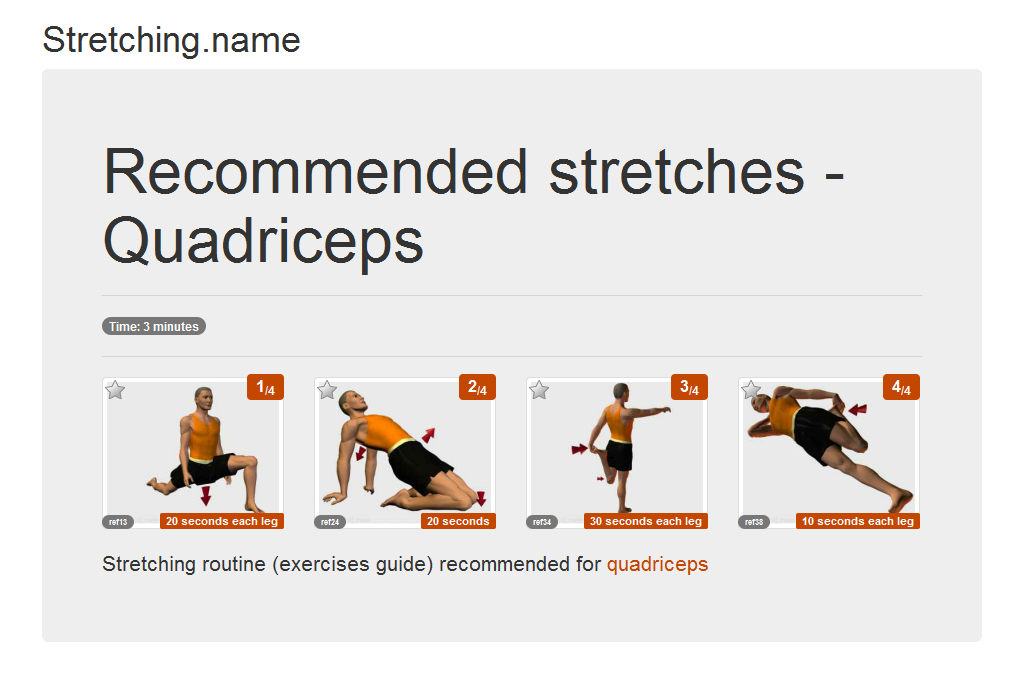 Stretching.name - Stretching posters - Quadriceps