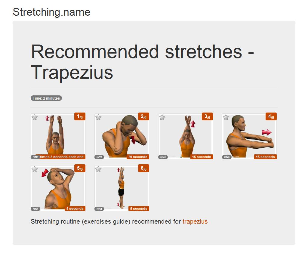Image Gallery trapezius stretches